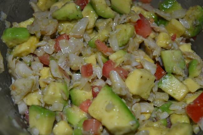 Gazpacho (Puerto Rican Salt Cod Salad) | Delish D'Lites