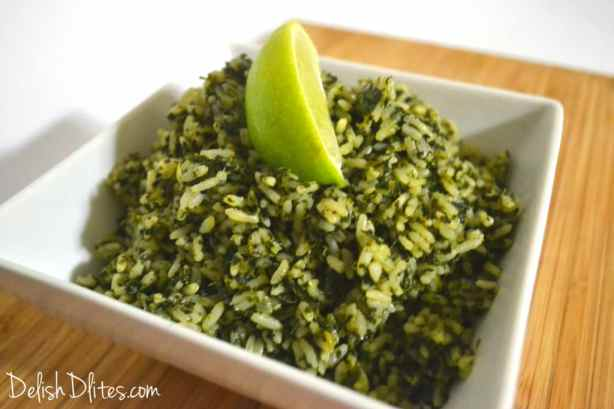 Arroz Verde (Green Rice) | Delish D'Lites