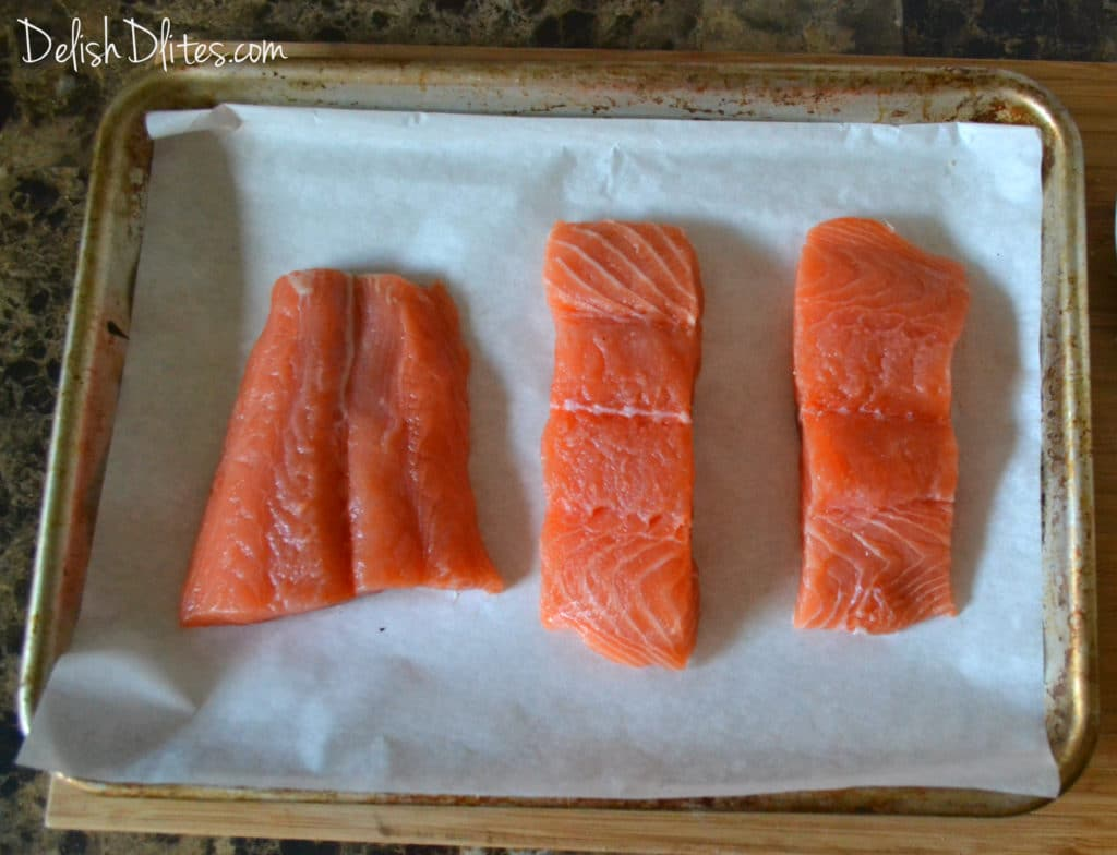 Cut The Salmon Into Your Desired Portion Sizes I Cut My Salmon Into  Roughly 5 Ounce Pieces