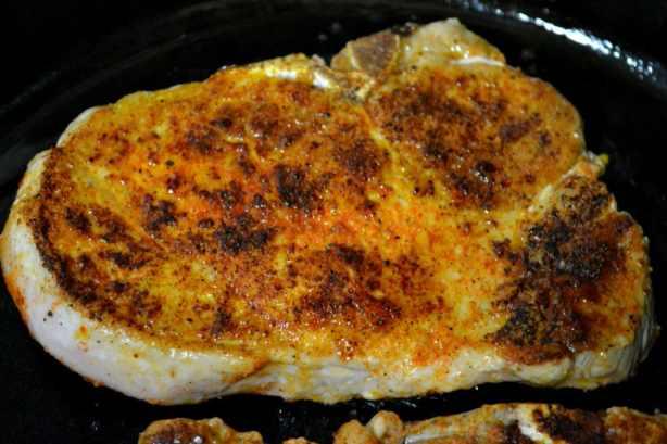 Peach and Mustard Glazed Pork Chops | Delish D'Lites