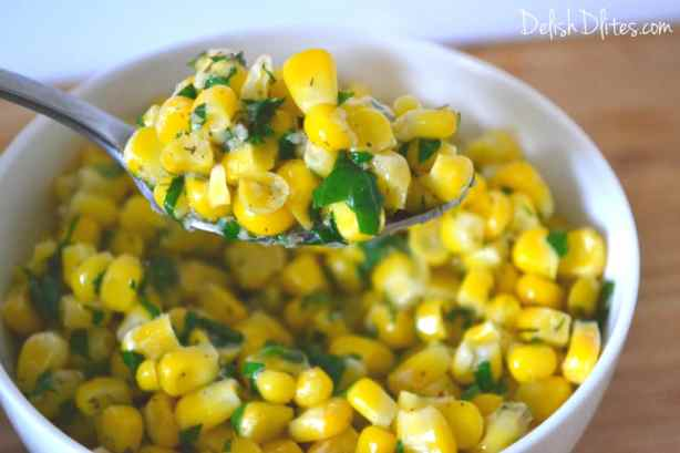 Buttery Garlic and Dill Corn | Delish D'Lites