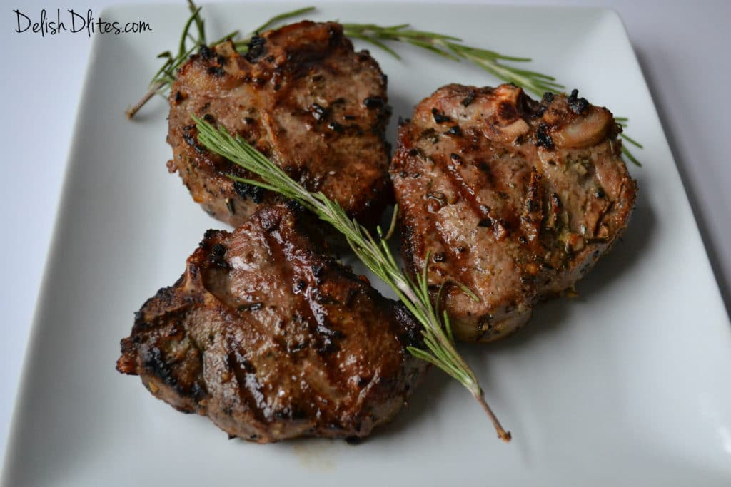 Garlic & Rosemary Grilled Lamb Chops | Delish D'Lites