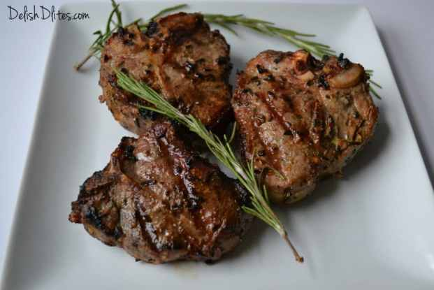 Garlic & Rosemary Lamb Chops | Delish D'Lites