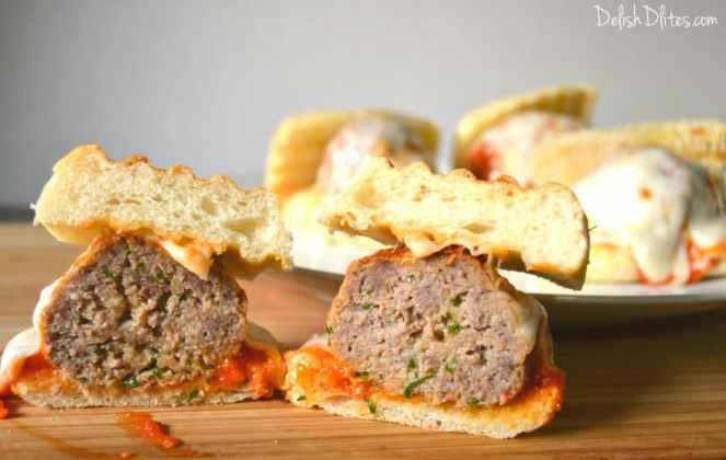 Cheesy Meatball Sliders |Delish D'Lites