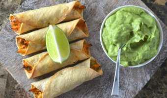 Salsa Chicken Taquitos