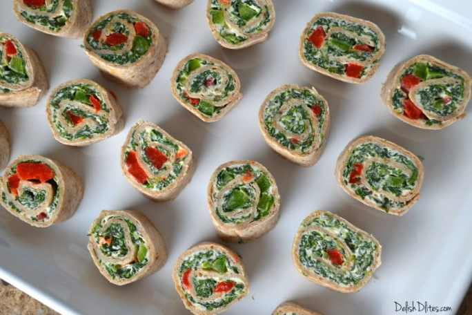 Spinach Dip Roll Ups