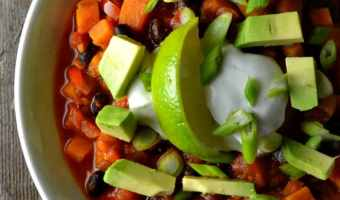 Smoky Sweet Potato and Black Bean Chili