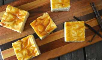 Passionfruit Swirl Cheesecake Bars