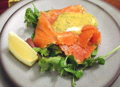"bcc288013 Cured Salmon ""Gravlax"" and Mustard Sauce ""Hovmästarsås"" - Carrots and Spice"