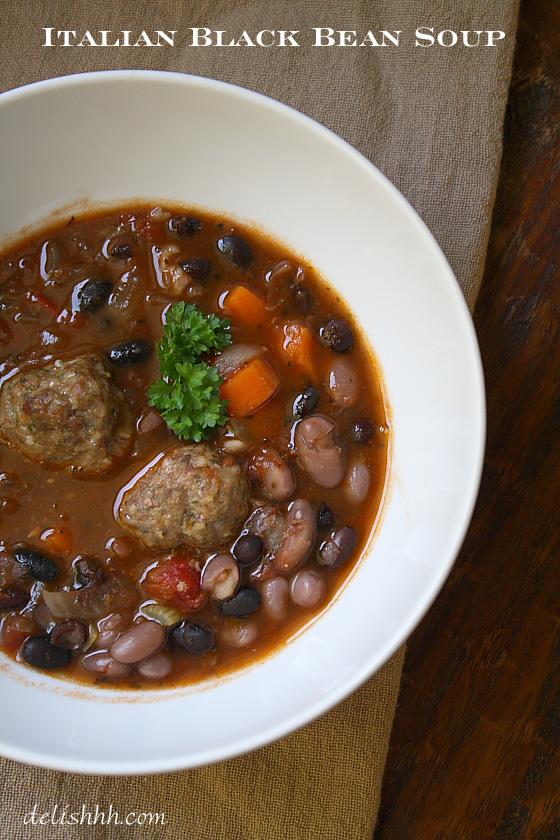 Italian Black Bean Soup