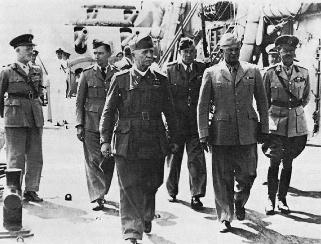 Badoglio e Eisenhower a Malta.