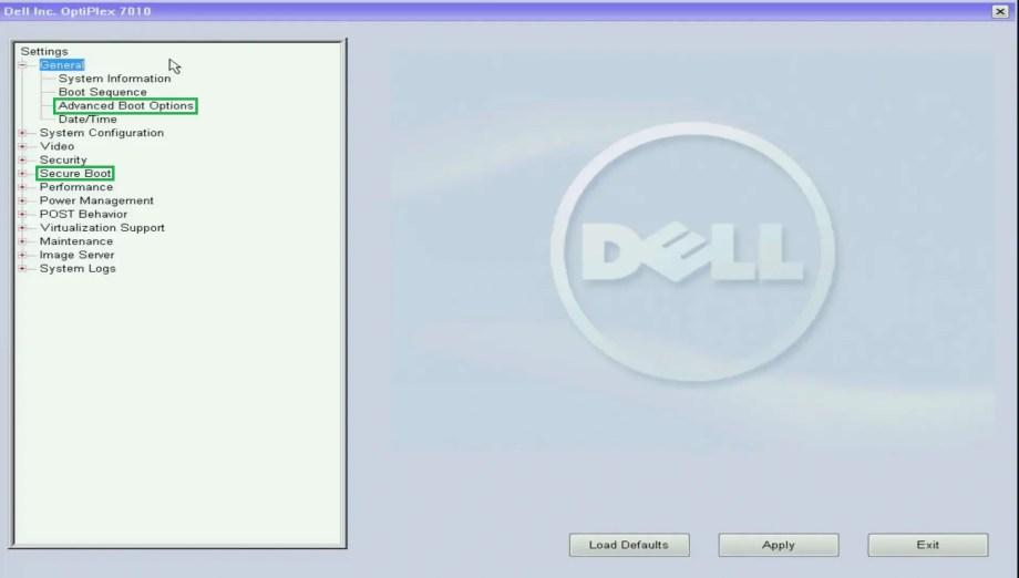 Dell Business UEFI BIOS