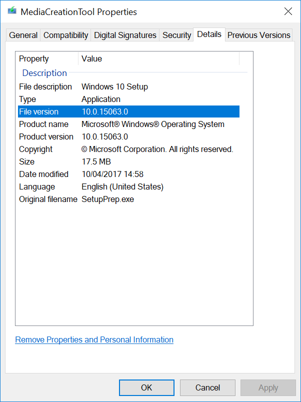 Windows 10 Version 1703: Download Windows 10 Using the Media