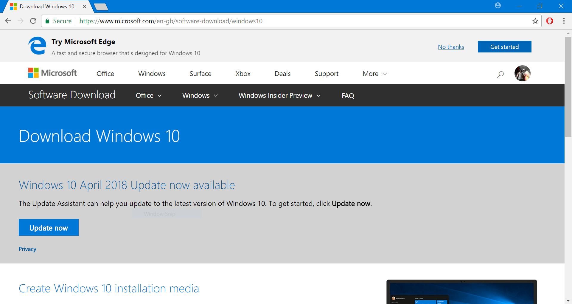 Windows 10 Version 1803 Media Creation Tool Now Available