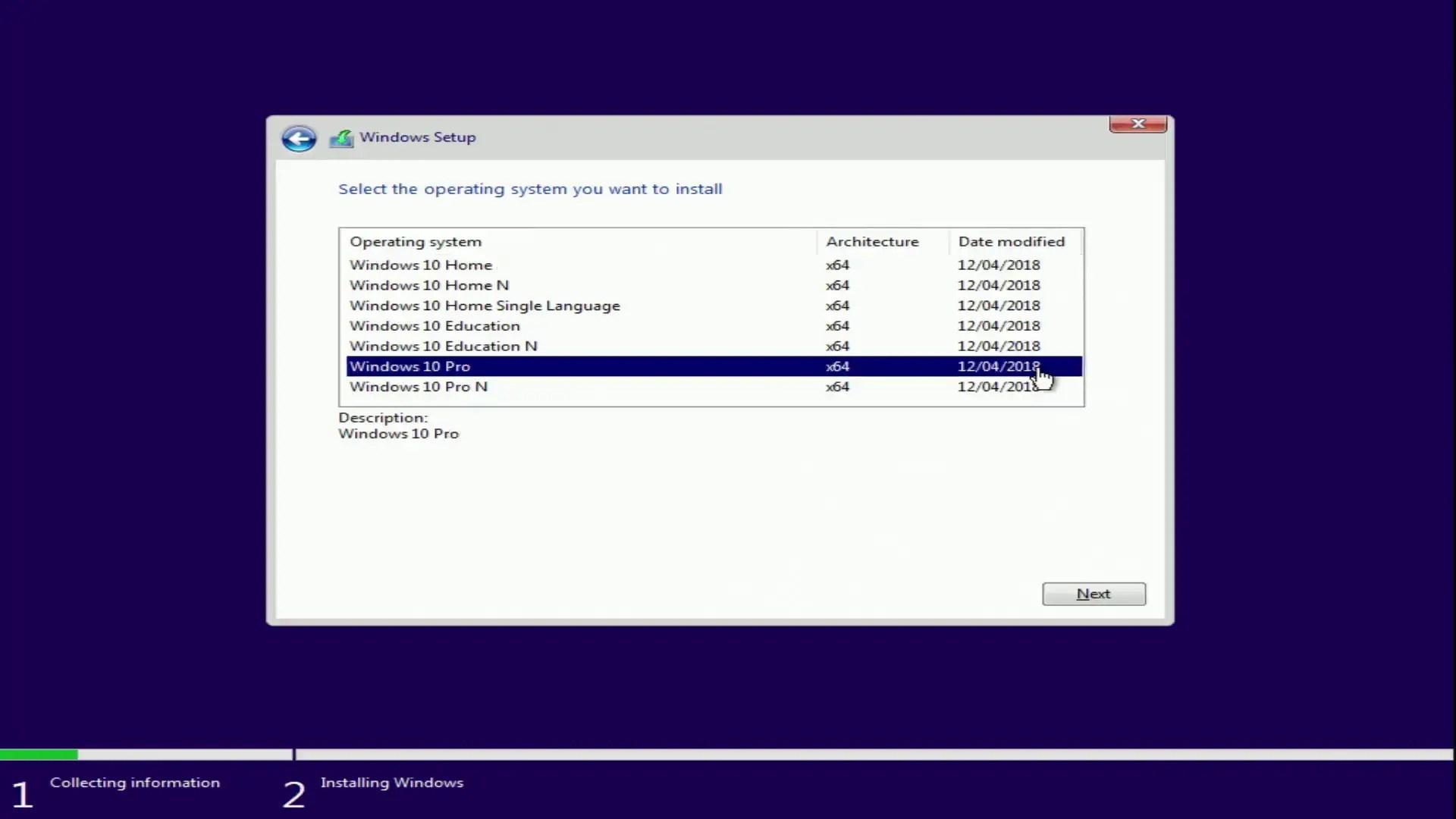key windows 10 pro 64 bit 1803