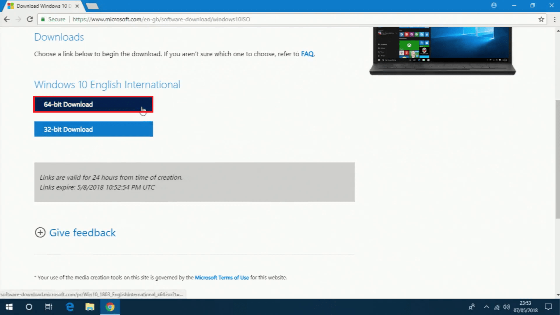 win 10 iso download link