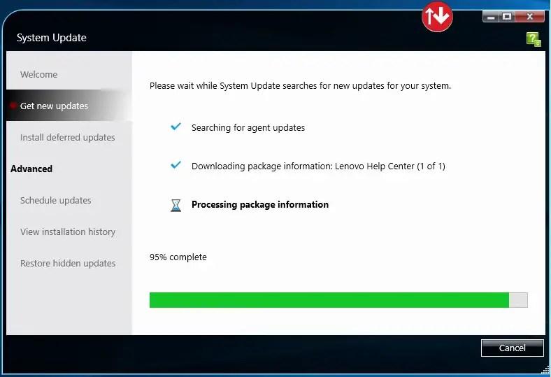 Using Lenovo System Update For Windows 10 - Windows 10
