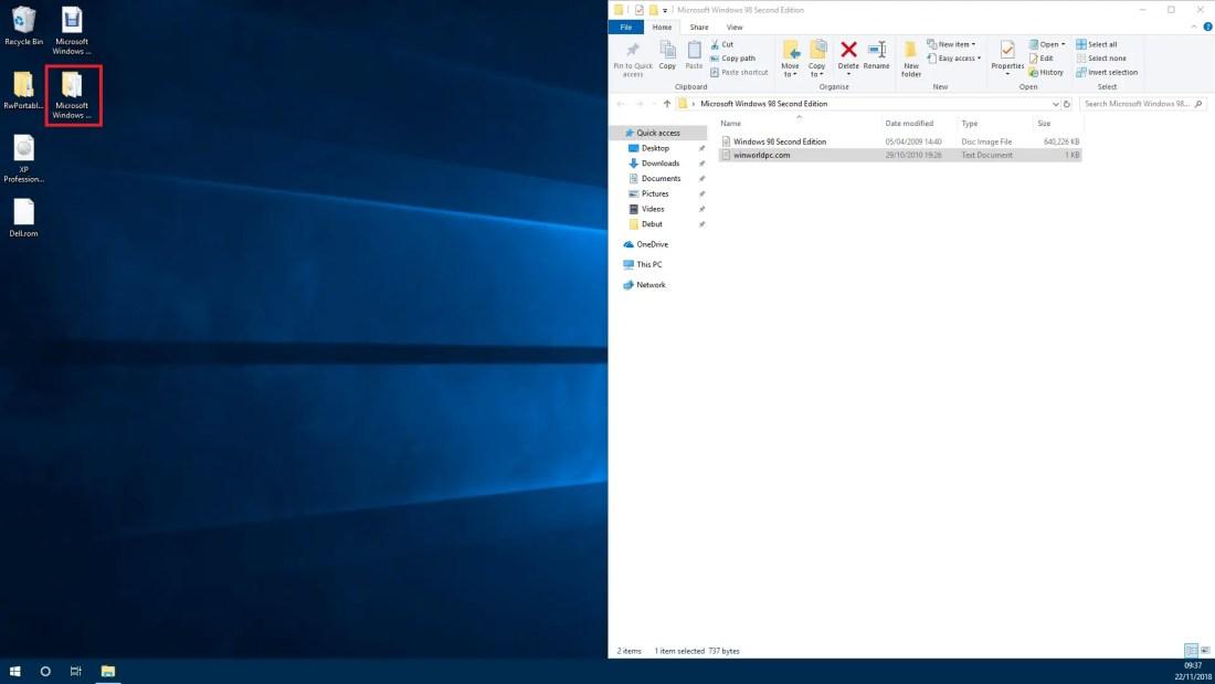 Windows 98 o s download