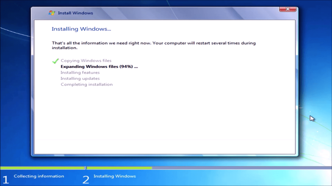 Windows 7 64 Bit Installation on a UEFI BIOS (Up to 6th