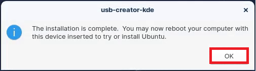 Your Zorin OS Bootable USB should now be created.