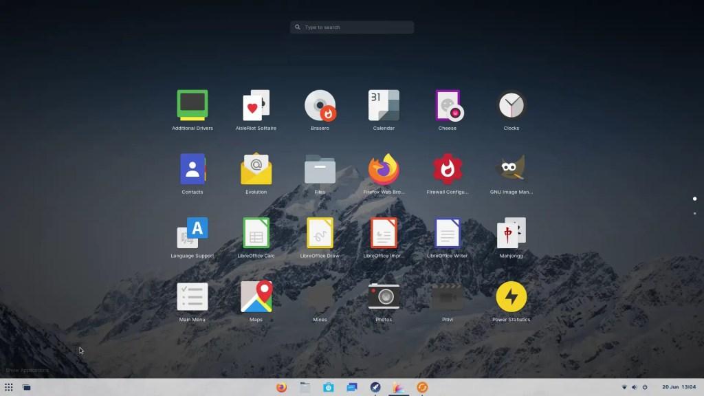 Zorin OS Welcome Tour 9 Zorin Appearance Full Start Screen.