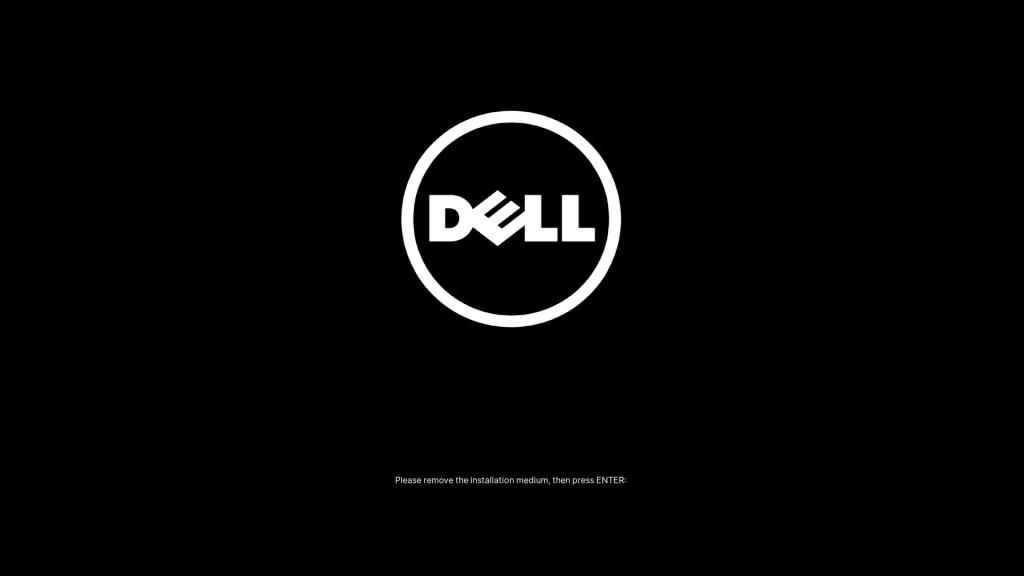 Dell UEFI BIOS Remove Installation Media.