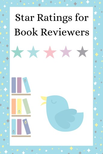 Pinterest Graphic - Star ratings for book reviewers. Dellybird logo.