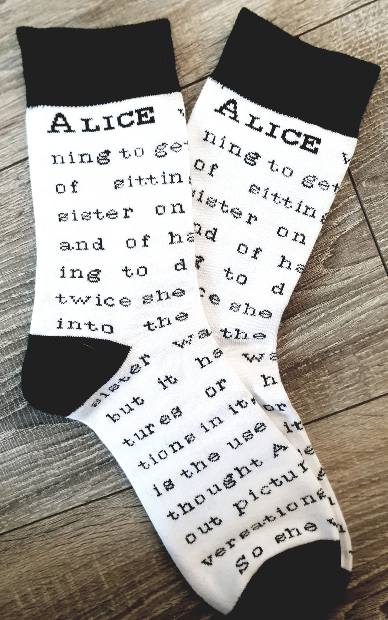 FairyLoot March Alice in Wonderland Socks