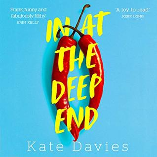In at the Deep End by Kate Davies, Audiobook cover art, LGBTQIAP+ image
