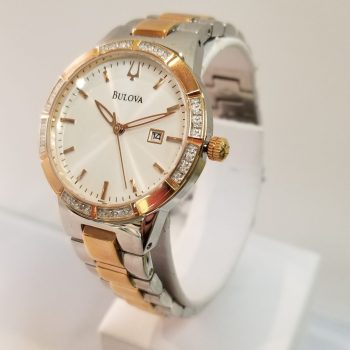 Bulova Ladies Diamond Bezel
