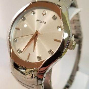 Bulova Diamond Stainless Steel