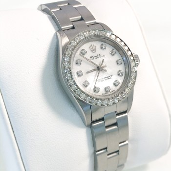 Rolex Ladies Mother Of Pearls Diamond Dial