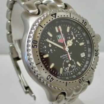 Tag Heuer Chronograph Black Dial – Dial Date