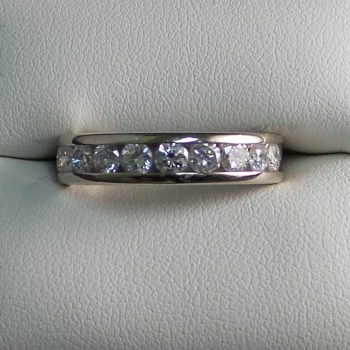 White Gold Band with 1 CTW in Diamonds