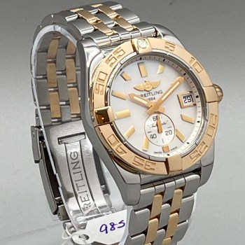 Breitling Chronomat – 18K Gold & Stainless Steel with Pearl Face