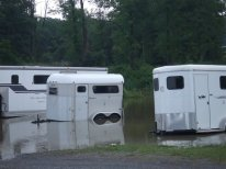 so many trailers under water