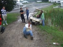 we tried to rescue the ones with the golf cart and it went badly