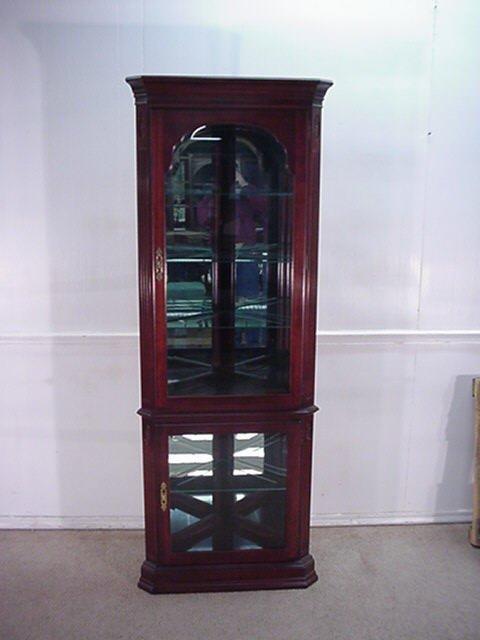 Delongs Furniture Ethan Allen Cherry Corner Curio Cabinet
