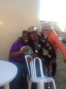 Perry from Hot 8 Brass band, LSP and Craig Charles.