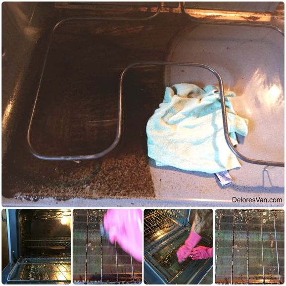 Cleaning Oven Collage