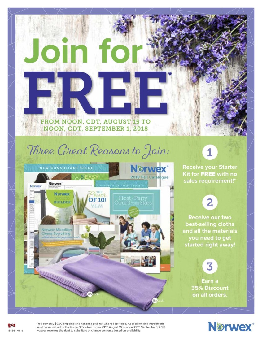 Join Norwex For FREE