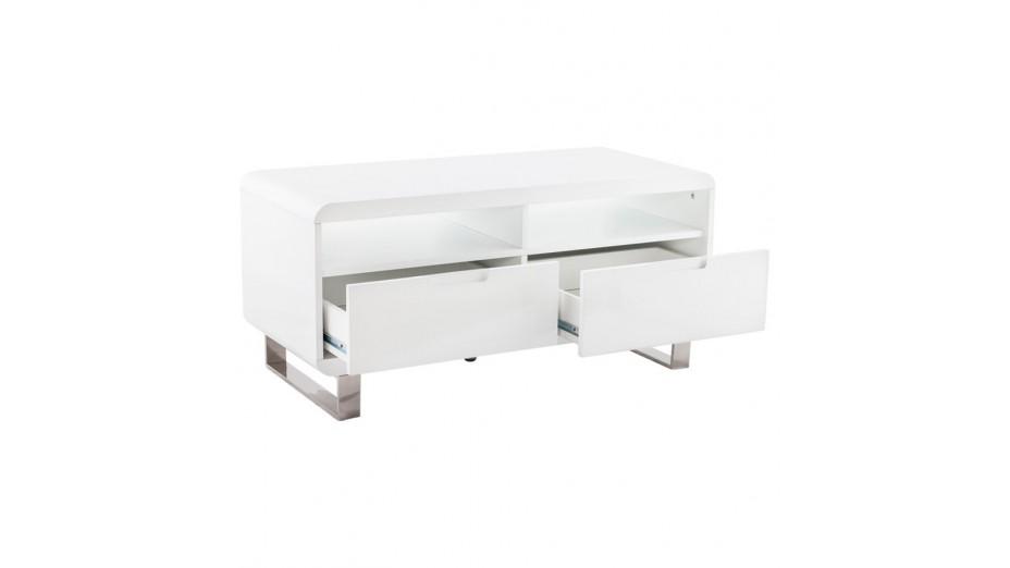 meuble tele blanc laque design 1 metre paris