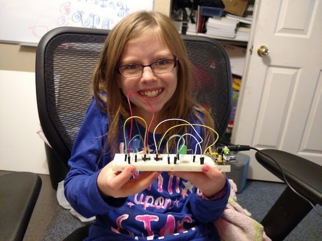 Robert Love's Daughter's First Electronics Project