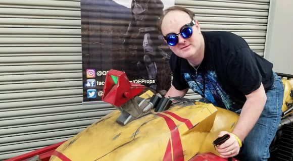 Jim wearing LED Steampunk Goggles