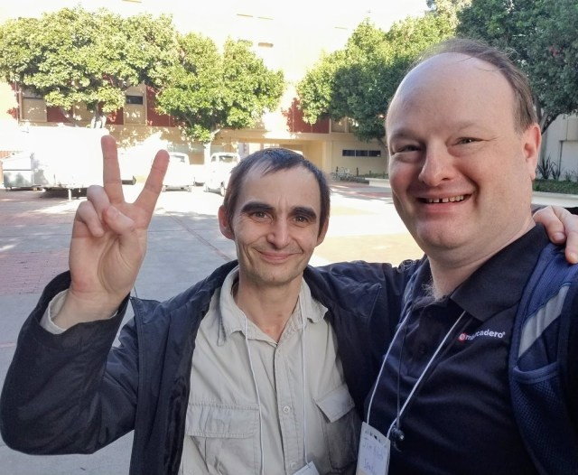 Boian and Jim at the 2017 SoCal CodeCamp in Los Angeles