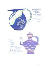 designs for loosely inspired Hawaiian pitcher and Tibetan teapot