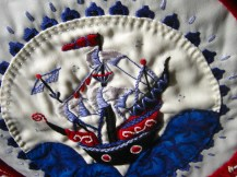 embroidery of a Turkish Ship