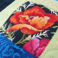 Oriental Poppy Quilt (5 years in the making)