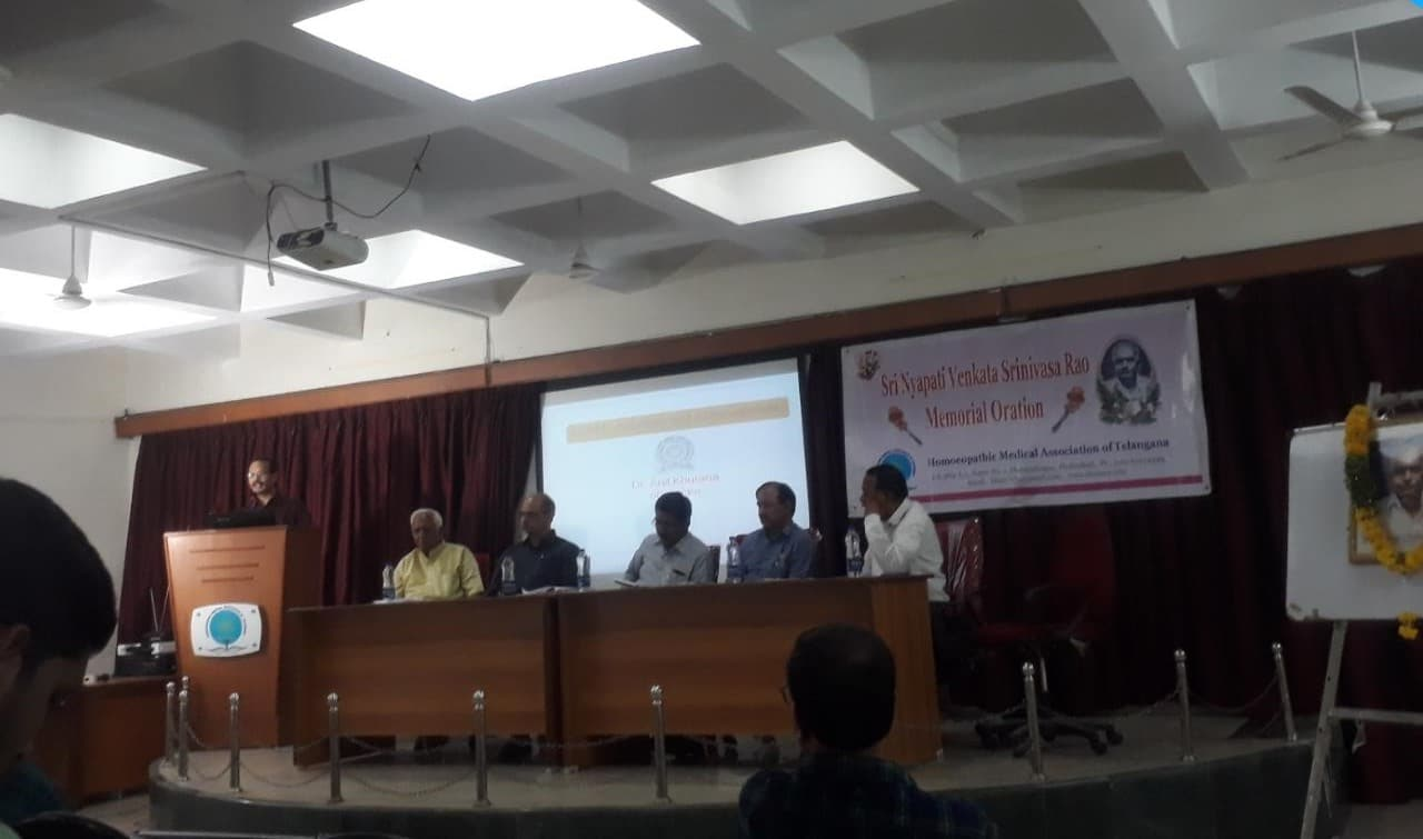 "Dr. Srinivasa Rao at National Institute of Nature Care, Pune. Presentation on ""Parenting Stress of Children with Disabilities- Some Homoeopathic & Anthroposophic Considerations """
