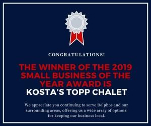 2019 Small Business Winner